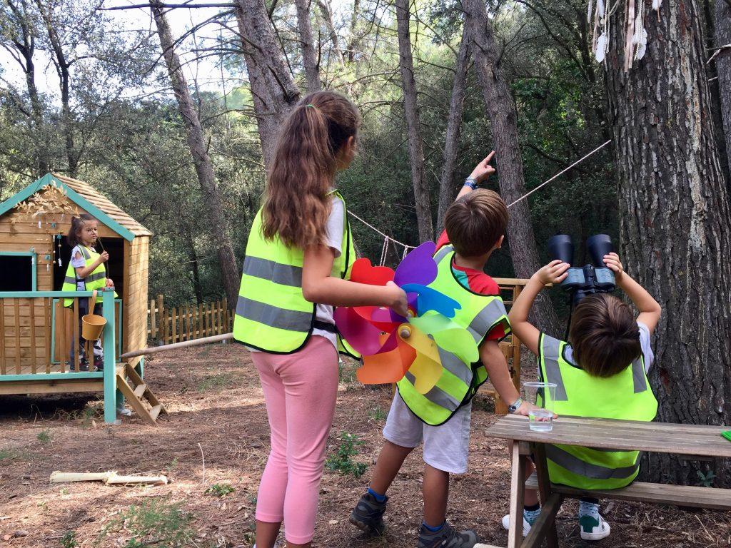 Como es un día en una escuela bosque