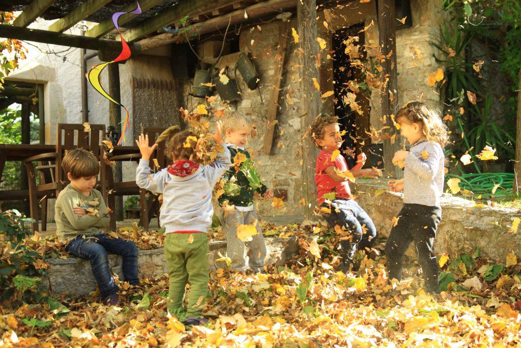Escola Natura Montessori Barcelona: espacio exterior del colegio